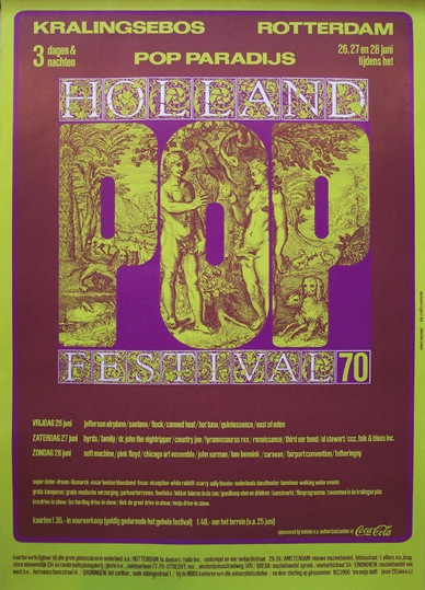 affiche holland popfestival kralingen 1970