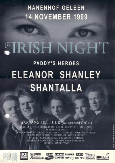 affiche irish night geleen 1999