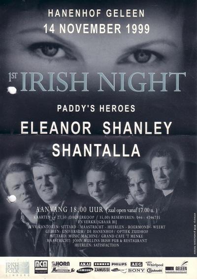 affiche irish night geleen 1999