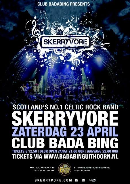 skerryvore affiche uithoorn 23 april 2016