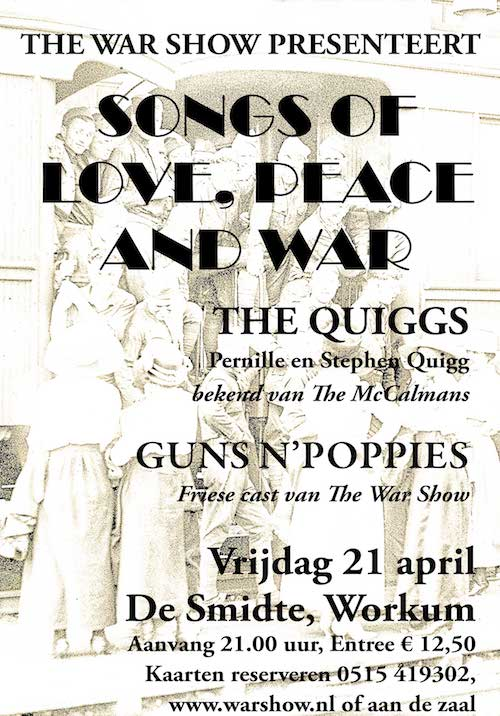 the war show presenteert songs of love, peace and war